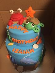 Under the sea first birthday cake