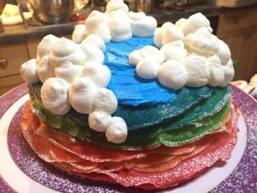 mille-crepe birthday cake
