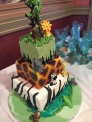 First birthday safari cake