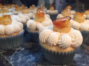 St. Honore Cupcakes with mini choux topper